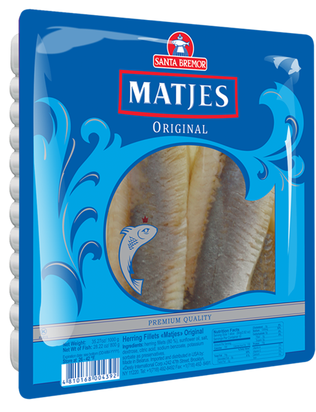 Picture of MATJES HERRING FILLET ORIGINAL, 1kg/2.2 lb