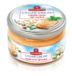 Picture of CAVIAR CREAM, CAPELIN CAVIAR SOFT SMOKED, 180g/6.3oz