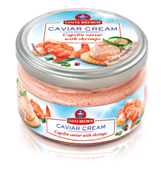 Picture of CAVIAR CREAM, CAPELIN CAVIAR WITH SHRIMPS, 180g/6.3oz