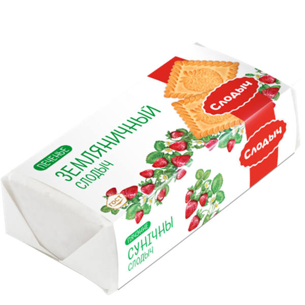 Picture of COOKIES «WILD STRAWBERRY», 100g. (3.53 oz.)