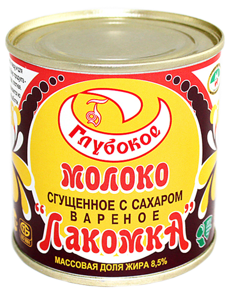 "Picture of SWEETENED BOILED CONDENSED MILK ""LAKOMKA"", 380g/13.4 oz"